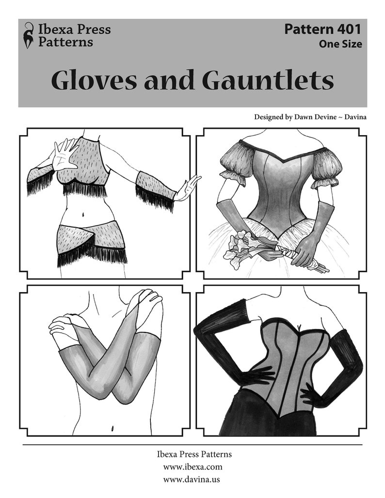 GLOVE PATTERN: Gloves & Gauntlets sewing and costuming pattern image 0