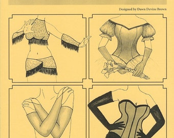 Gloves and Gauntlets sewing pattern by Dawn Devine aka Davina - For belly dance and show girl costuming and cosplay