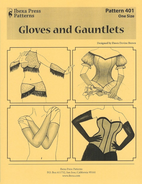 Gloves And Gauntlets Sewing Pattern By Dawn Devine Aka Davina Etsy