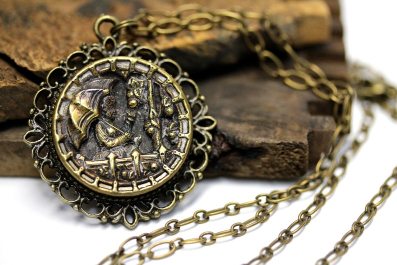 Parasol Necklace Victorian Jewelry Antique Theatre Gifts image 0
