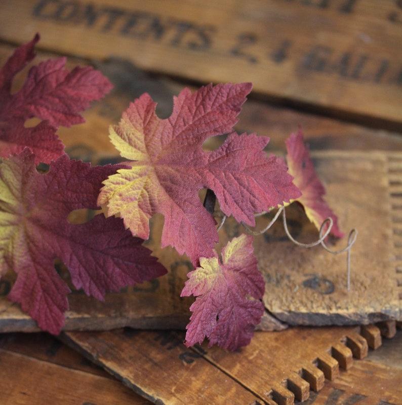 Maple Leaf Hair Clip Autumn Fascinator Fall Leaves image 0