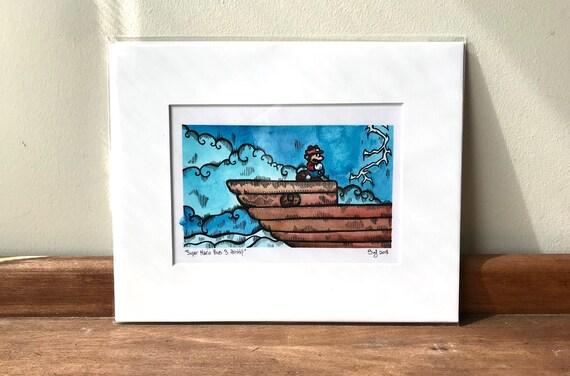 Airship - Super Mario Bros 3 Inspired Print