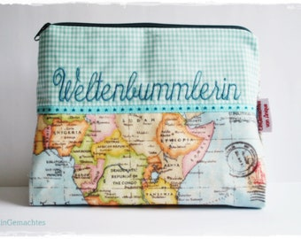 Cosmetic bag * globetrotter