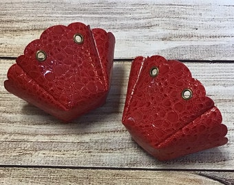 Red Stone Roller Skate Toe Covers