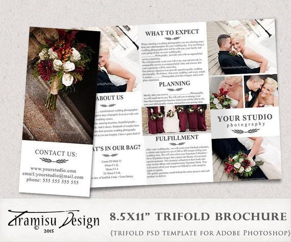 Hochzeit Fotografie Trifold Broschüre Vorlage Client Welcome   Etsy