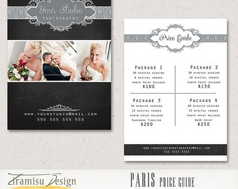 Photography Price Guide-Photography Price List  - Price List template -INSTANT DOWNLOAD-Paris