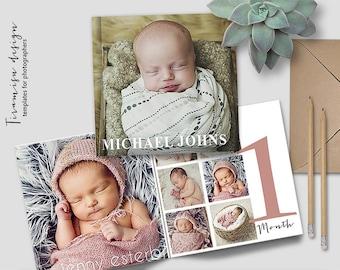 Baby Album, 12x12in Photoshop Template, Newborn Photo Album for Photographers, Baby First Year Photobook Template