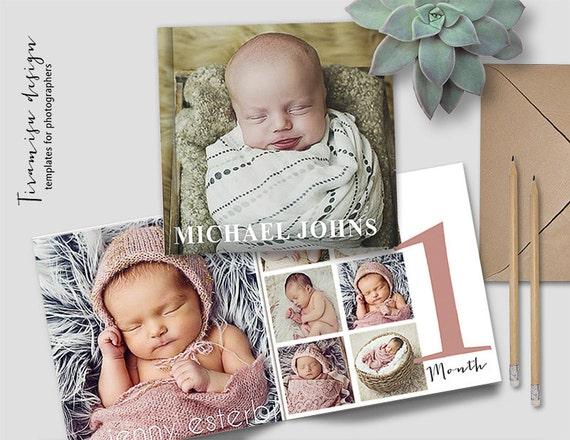 baby album 12x12in photoshop template newborn photo album