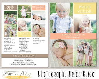 Photography Price List  - Photography Pricing Guide - Price List template -INSTANT DOWNLOAD-sku33-1