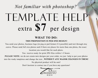 Template Customization, Card Customization Service, Template Help