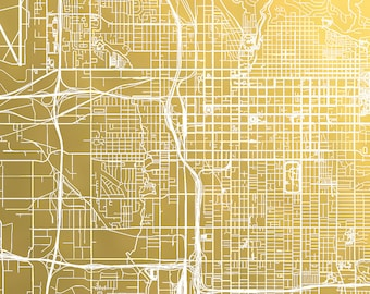 City Map Gold Foil Print Norfolk Map Foil Pressed Map Foil Map Rose Gold Map of Norfolk Virginia Christmas Gift Idea Metallic Map Art