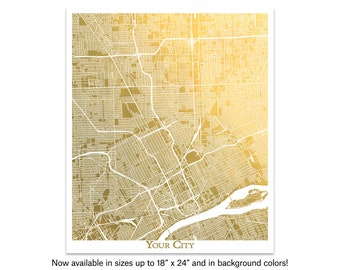 Canberra Map Print Gold /& Silver Foil Square City Map Wall Art Poster Personalized Gift Idea Travel Home Decor Australia by GoldenGraphy