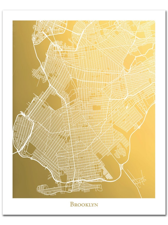 Brooklyn Map Print in Gold Foil, Gold Foil Map of Brooklyn NY, Gold on london's map, around the world map, quartz crystal map, true map, crazy world map, iron mining map, classic map, black map, tin deposits map, original map, metallic map, diamond map, old west map, gilgal map, iron deposits map, natural earth map, blue china map, blue ocean map, tin ore map, china bubble map,