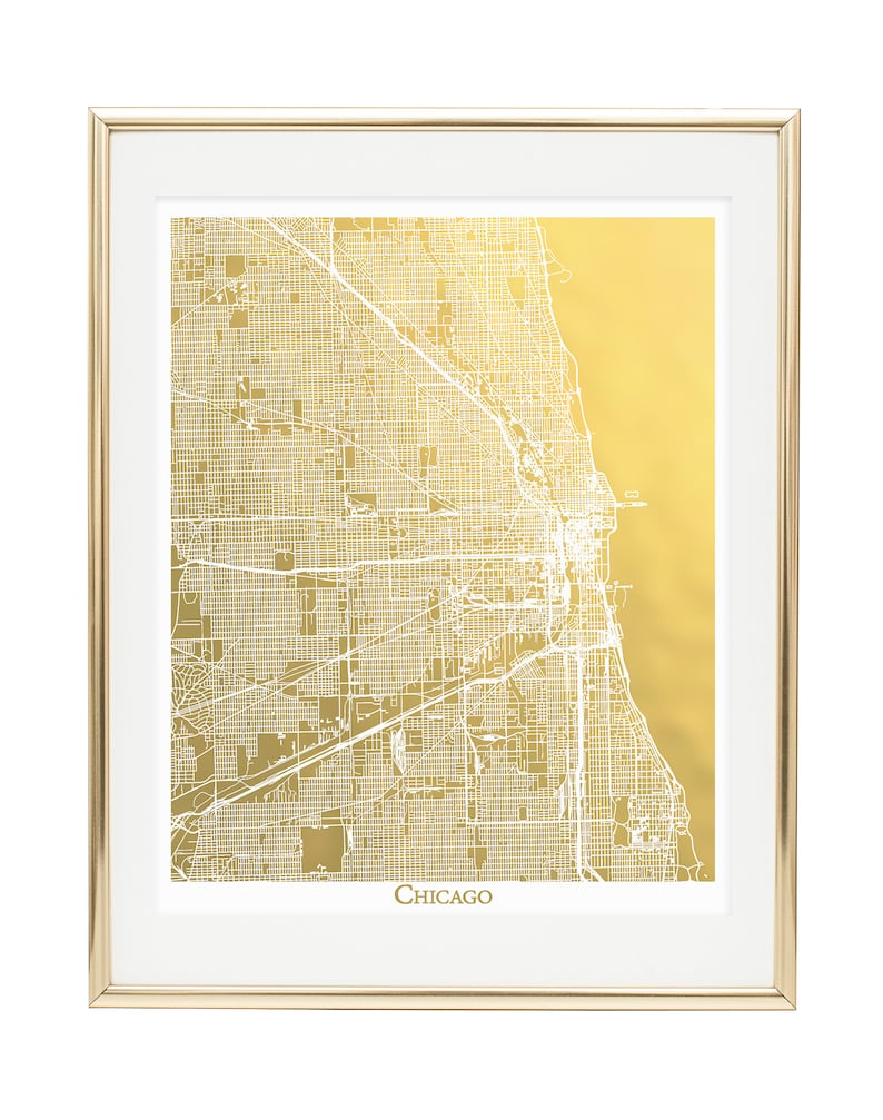 Chicago Map, Chicago Print, Gold Foil Print, Gold Foil Map™, Chicago on chicago illinois map, chicago road map with numbers, chicago map vintage, chicago wall murals, chicago sculpture wall colors, chicago map wallpaper, chicago street block numbers, chicago neighborhood map, chicago state map, chicago map fabric, chicago map glass, chicago map design, chicago map canvas, chicago skyline 2014, chicago wall decor, chicago black, chicago street map, chicago metro map, chicago map artwork, chicago map coasters,