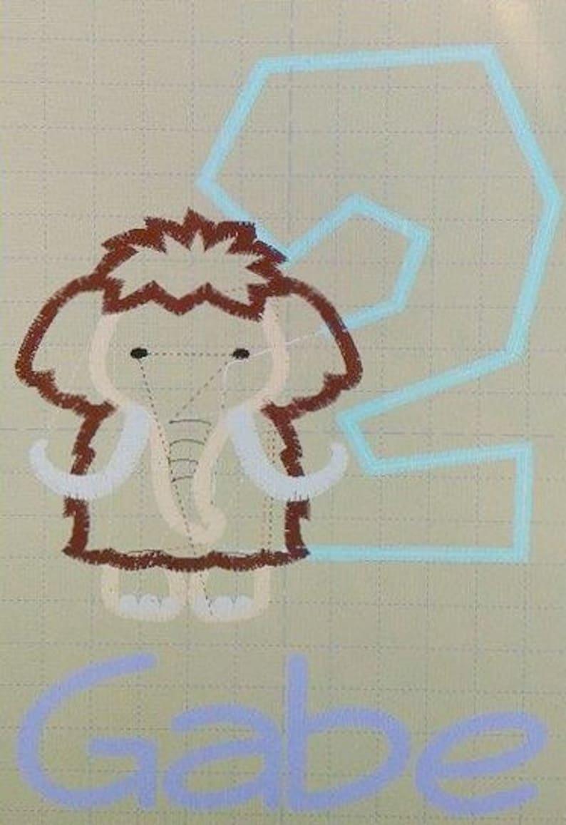 Mammoth Birthday Shirt-Mammoth Birthday-Woolly Mammoth Birthday Shirt  1-9-Boys Birthday Shirt-Custom Birthday Shirt