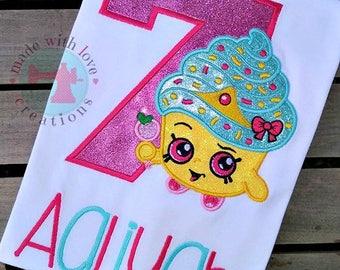 Shopping Cupcake Birthday Shirt-Shopkins Cupcake Birthday-Shopkins Shirt-Cupcake Shirt-Cupcake Birthday Shirt-Shopkins Birthday Shirt