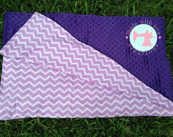 Purple Chevron Blanket