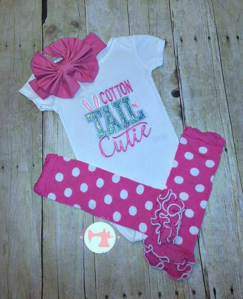 b4220401b19b Easter Shirt-Bodysuit-Cotton Tail Cutie-Easter