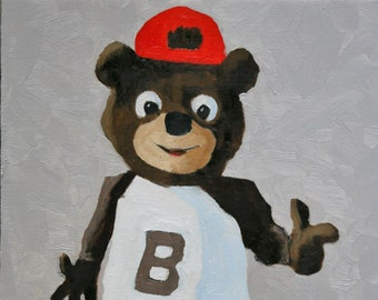 Cubby, the Brown University Bear - Fine Art Print