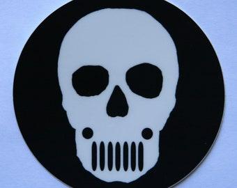 Jeep Skull Sticker - 3 Bucks - Free Shipping