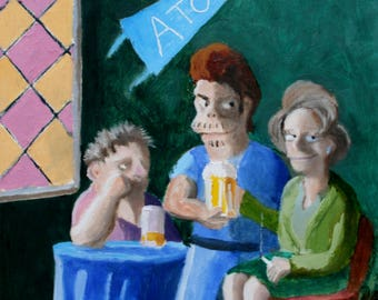The Girl With The Beerglass, or The Lady and Two Gentlemen (cough-cough)