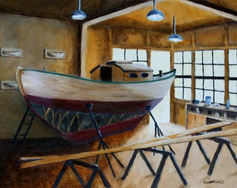 Wooden Boat Repair at the Northwest Maritime Center, Port Townsend, WA