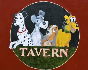 Four Dogs Tavern - Art Parody -