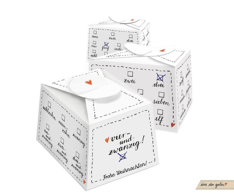 24 Advent Calendar Boxes black and white for filling image 0