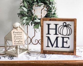 Home Pumpkin Farmhouse Sign, home decor sign, family room sign, modern farmhouse sign