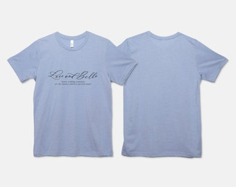Lace and Belle Logo T-Shirt, Small Business Logo T-Shirt