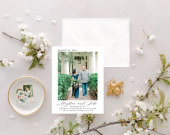 Wedding Photo Save the Date, Lace and Belle Save the Date Cards