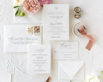 Classic and Timeless Wedding Invitations, Monogram Wedding Invitations