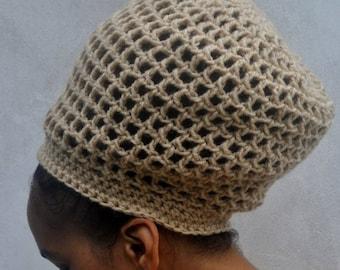 e219ad30 ILA Dread Nett Unisex Crochet Rasta Tam/ One Colour S-XL/ Dreadlock Tam/  Loc Hat/ Natural Hair Afro Hat/ Rasta Crochet Hat/ Rasta Hat