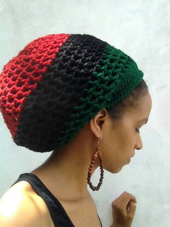 Ila Garvey Ites Dread Nett Unisex Crochet Rasta Tam Hat S Xl