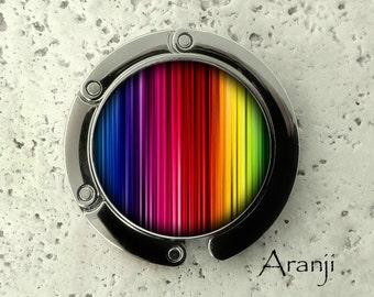 Earbud or Coin Pod Rainbow Stripe
