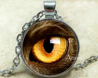 Cat's eye necklace, eye necklace, cat's eye pendant, cat's eye necklace, eye pendant, Pendant #AN204P