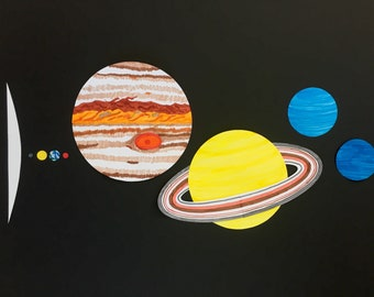 To-Scale Paper Planets for School Projects