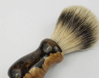Acrylic and York Burl Silvertip Shaving Brush