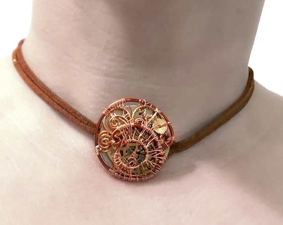 Steampunk Wire Wrap Choker