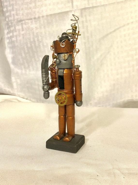 Small Steampunk Robot Nutcracker
