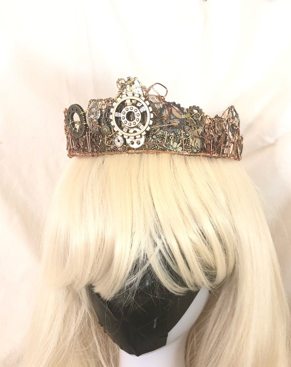 Steampunk Clockwork Tiara Headband