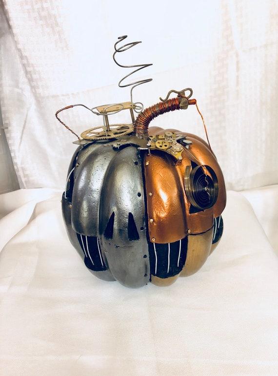 Large Steampunk Clockwork Halloween Pumpkin