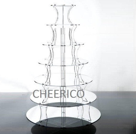 3 Tier Maypole Mirrored Effect Cupcake Stand Cupcake Tower