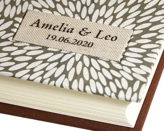 """Personalised Photo Album with Classic Japanese Olive Rice Grain Design """"Rice Grain Olive"""""""