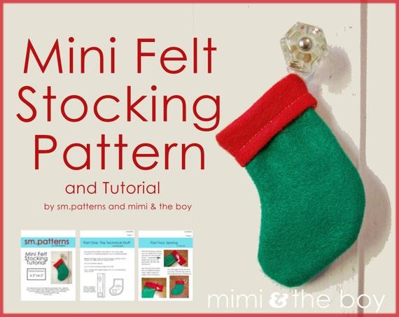 eadfdc665 Mini Felt Stocking Pattern and Tutorial Christmas Gift