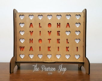 Personalized Connect 4 Hearts Game