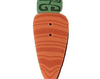 Handmade Carrot Buttons (1 inch long), 6 Buttons per Pack