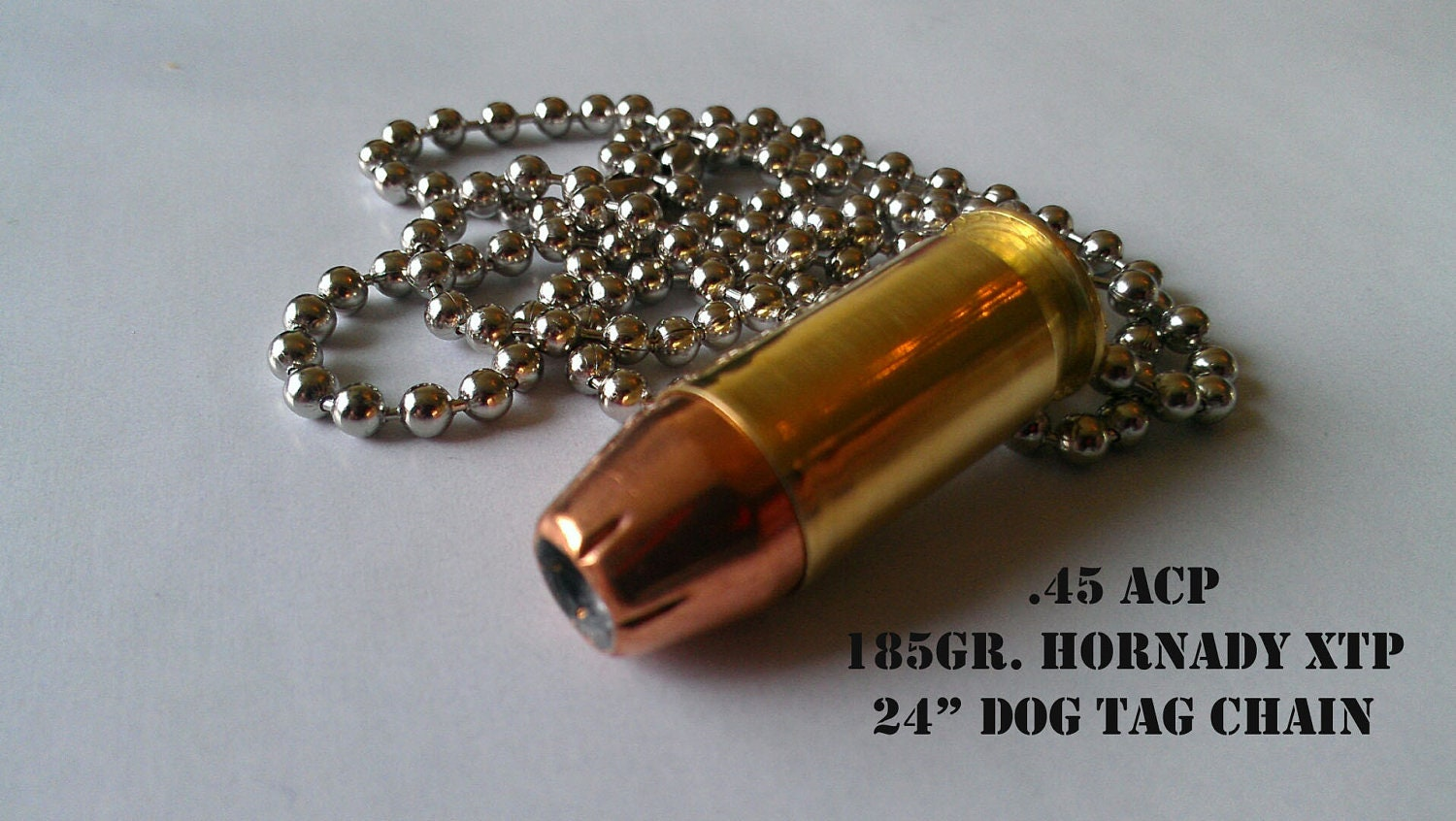 Replica .20 ACP Bullet Pendant Necklace With 20 Gr Hornady   Etsy