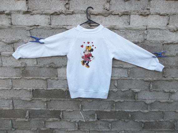 Vintage Sweatshirt Thin XS Minnie Mouse Disney Swe
