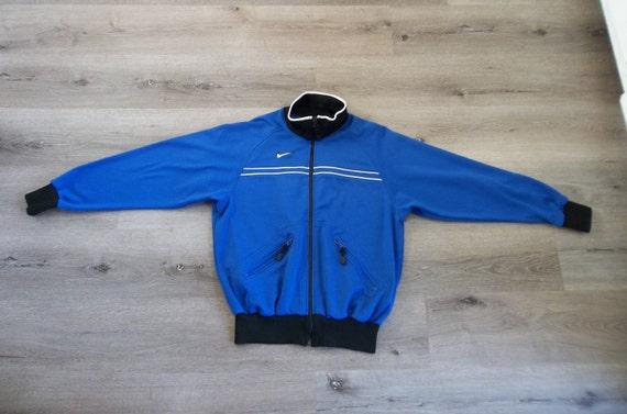 Vintage Jacket Nike 1990s Medium Zip Up Preppy Gru